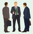 businessmen in conversation vector image vector image