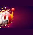 casino winner banner signboard vector image vector image