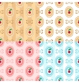 Cherry seamless patterns vector image