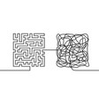 continuous line drawing a chaos and order concept vector image