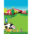 country fair background vector image vector image