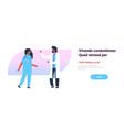 couple doctors treatment communication man woman vector image vector image