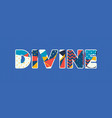 divine concept word art vector image vector image