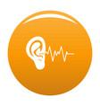 ear icon orange vector image