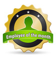 employee month vector image vector image