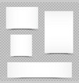 empty paper set shadow transparent vector image vector image
