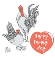 family day of chicken birds vector image vector image