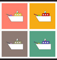 flat icon design collection military warship vector image vector image