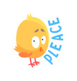 funny cartoon comic chicken vector image vector image