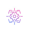 gear and target line icon vector image vector image
