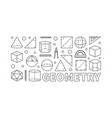 geometry concept line horizontal banner vector image vector image