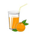 glass with grapefruit juice vector image