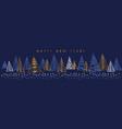 hand drawn christmas tree horizontal element vector image
