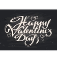 happy Valentines day handwritten inscription vector image vector image