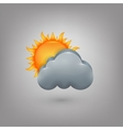 Icon weather Cloud sun vector image
