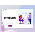 interviewing job search flat design vector image