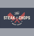 label logo butchery meat shop vector image