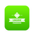 lingerie beauty icon green vector image vector image