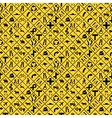 Many yellow road signs seamless pattern vector image vector image