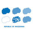 map of republic of macedonia - set vector image