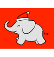 Merry baby Santa elephant vector image