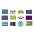 open book icon set color outline style vector image vector image