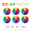 presentation colors relationship in set vector image vector image