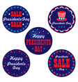 presidents day graphic icons vector image vector image
