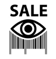 sale bar code vector image vector image