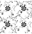 seamless background with small flowers vector image