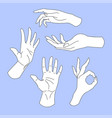 set of hand drawn arms vector image vector image