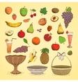Set of juicy fresh fruits vector image vector image