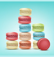 set of macarons vector image