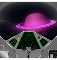 Spaceship cabin vector image