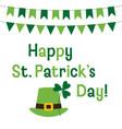 st patricks day greeting card vector image vector image