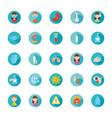 syringe and coronavirus icon set block style vector image vector image