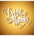 Thanksgiving Day Lettering vector image vector image