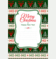 ugly sweater merry christmas party ornament vector image vector image
