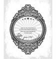 vintage label with grunge background vector image vector image