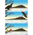 Wild birds on the branch vector image vector image