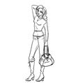 Woman with bag vector image vector image