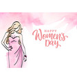womens dayhappy womens day celebration greeting ca vector image vector image