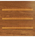 Wooden Bookshelf vector image