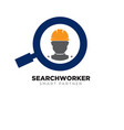 worker search logo designs for construction vector image