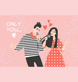 young couple singing a love song vector image vector image