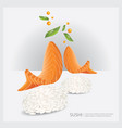 poster sushi fish vector image