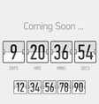 Flip Coming Soon countdown timer template vector image