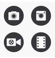 modern camera icons set vector image