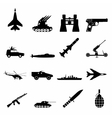 16 weapon simple icons set vector image vector image