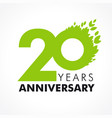 20 anniversary leaves logo vector image vector image